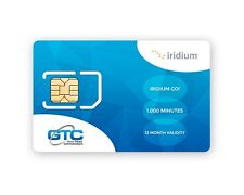 Prepaid SIM card for Iridium GO! Satellite Terminal with 1,000 Data Minutes
