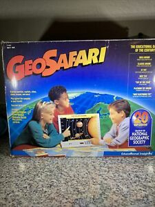 Vintage GeoSafari EI8800 Electronic Learning System Bundle With Cards Tested.