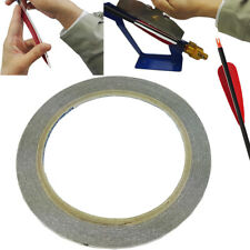 1 Roll Adhesive Feather Tape Glue Archery Arrow Diy Accessories, Black, 10m