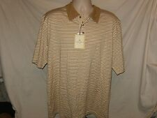 Paradise Collection NWT Men's Polo Shirt Driftwood Silk &Cotton Striped Size XL