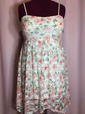 New With Tags No Boundaries XL 15-17 Dress Juniors Pink Floral Open Back N5