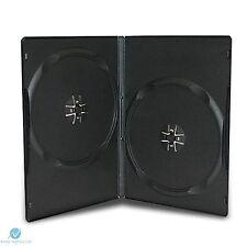 50 doppio standard NERO DVD caso da 14 mm DORSO Copertina vuoto fianco a fianco regolari