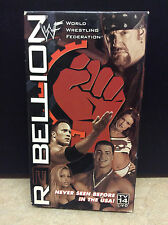 WWF WWE Rebellion 2000 VHS Video in good condition Undertaker The Rock