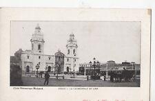 B78559 la cathedrale de lima chariot  peru  scan front/back image