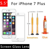 For iPhone 7 Plus 5.5 Front Outer Screen Glass Lens Replacement REPAIR KIT White