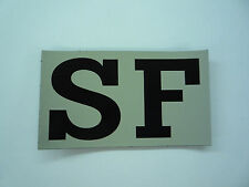 """SF IR PATCH MAGIC BLACK ON TAN 3.5"""" X 2"""" COLL#200 WITH VELCRO® BRAND FASTENER"""