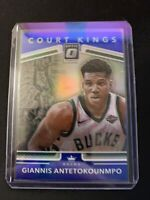GIANNIS ANTETOKOUNMPO /85 COURT KINGS HOLO BLUE PRIZMS SP 2017-18 DONRUSS OPTIC