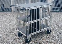 """Titan 4 Berth GIANT Aluminium Dog Show Trolley with 8"""" All Terrain Wheels"""