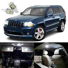 11 x Pure White LED Interior Lights For Jeep Grand Cherokee 2005 - 2010