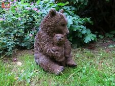 More details for brown bear, mother and cub, realistic home & garden ornament. vivid arts. size b