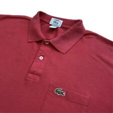 Vintage LACOSTE Izod Polo Shirt | Size 6 (XL) | Red Short Sleeve With Pocket