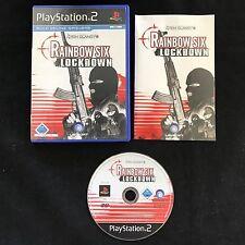 PS2 Rainbow Six Lockdown OVP Sony Playstation 2 #PS2#00138