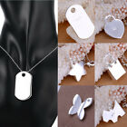 Elegant Women Pendant 925 Sterling Silver Plated Fashion Necklace Jewelry Gift