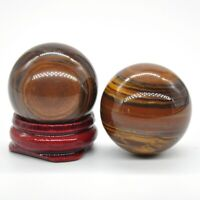 Wholesale 30MM Natural Iron Tiger Eye Crystal Healing Reiki Gemstone Shpere Ball