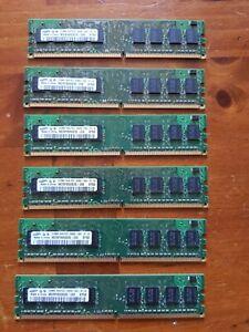 Samsung Desktop Memory 3GB (512MB x6) - 1Rx8 PC2-5300U-555