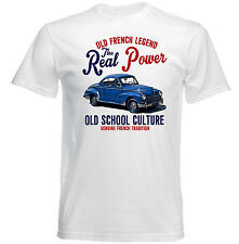 VINTAGE FRENCH CAR PEUGEOT 203 COUPE - NEW COTTON T-SHIRT