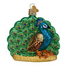 Old World Christmas PROUD PEACOCK (16074)N Glass Ornament w/OWC Box