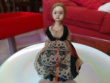 Rarissima Bambola D'epoca Lenci Regionale Trento Anni 50 da collezione