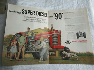 Massey Ferguson MF90 tractor magazine print ad poster
