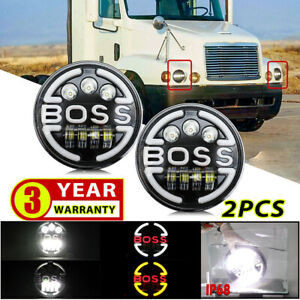 For Freightliner Century Class 7inch Round LED Headlights Hi/Lo Beam Light Pair