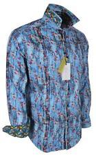 NEW Robert Graham $248 AQUARIUM Fish Print Embroidered Classic Fit Sports Shirt