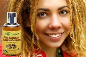 Certified No Salt Real Black Jamaican Castor Oil 4 oz & Deluxe Satin Bonnet