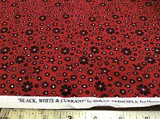 HENRY GLASS-BLACK, WHITE & CURRANT #7062 BY COLOR PRINCIPLE  BY THE YARD