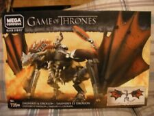 Mega Bloks (Construx) Rare Black Serie Game of Thrones Daenerys & Dragon 735pcs.