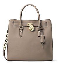 NWT MICHAEL KORS Hamilton Large Saffiano Leather Tote Handbag $358 DarkTaupe