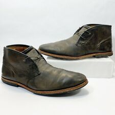 Timberland Wodehouse Black Leather Chukka Boots 75510 Men's 11 M Burnished Black