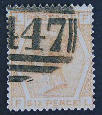 GREAT BRITAIN QV 1873 6p Buff, Plate 13 , Fine Used,  SG 145,  REPLICA