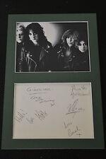 GIRLSCHOOL signed Autogramm In Person 20x30 Passepartout KELLY +2007 URBESETZUNG