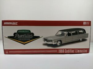 Precision Miniatures 1:18 1966 Cadillac Limousine Silver with Black Top PC-18005