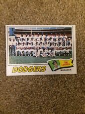 +++ DODGERS 1977 TOPPS BASEBALL CARD #504 - LOS ANGELES DODGERS +++