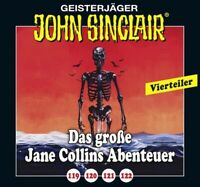 JOHN SINCLAIR - DAS GROßE JANE COLLINS ABENTEUER 119-122  4 CD NEU