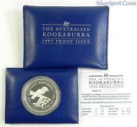 1997 KOOKABURRA PROOF SILVER Coin in Wallet
