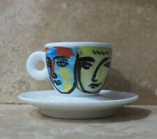 New listing Illy 1994 Espresso Cup & Saucer Faccee Italiane Sandro Chia. Never Used.