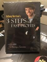 Anthony Morrison - 3 Steps to Fast Profits (DVD, 2009)   FACTORY SEALED