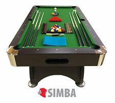7 Ft Pool Table Billiard Playing Cloth Indoor billiards table new - Green Season