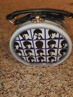 Beatles Rock & Roll Drum Tin Faces John Paul George Ringo Vintage Collectible