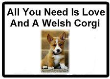 Dog Humor Welsh Corgi Love Refrigerator Magnet