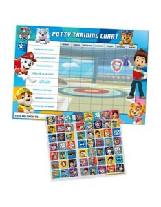 Paw Patrol Potty and Toilet Training Reward Chart with 56 Reusable Stickers