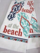 Ritz Beach Flip Flops Life is Better At The Beach Kitchen Towel Set of 2