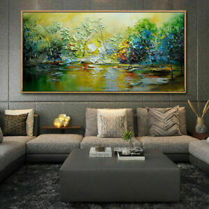 """LL821 Large Canvas Hand-painted oil painting Abstract scenery Unframed 48"""""""