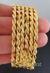 6  Bilezik ikili Burma 22 Karat Altin kaplama Gold Adana Armreifen Kuyumcu Model