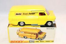 """Dinky Toys 407 Ford Transit Van """"Hertz"""" near mint in box all original condition"""