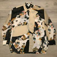 3.1 Phillip Lim for Target Womens Floral Button Shirt Blouse Top Polyester Sz M