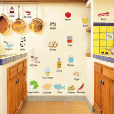 Kitchen Refrigerator Door Stickers Decorative Food Fruit Removable Wall Stiyu