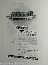 1932 Canada Cement Co. ad, Winnipeg Hydro Slave Falls