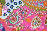 3 Yard Cotton Pink Paisley Indian Hand Block Print Sewing Material Craft Swing
